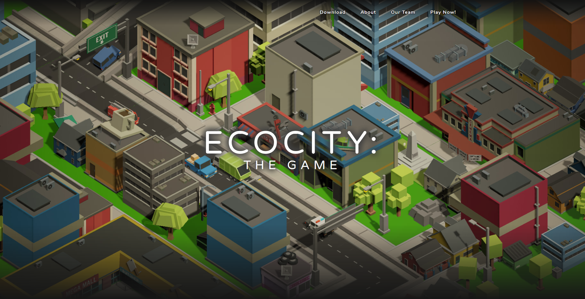EcoCity: The Game's Public Website