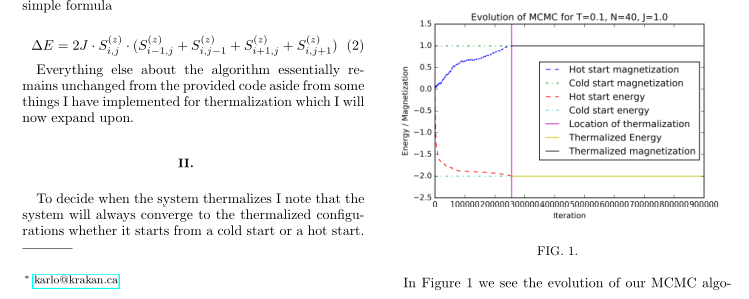 Monte-Carlo simulation of the 2D Ising model