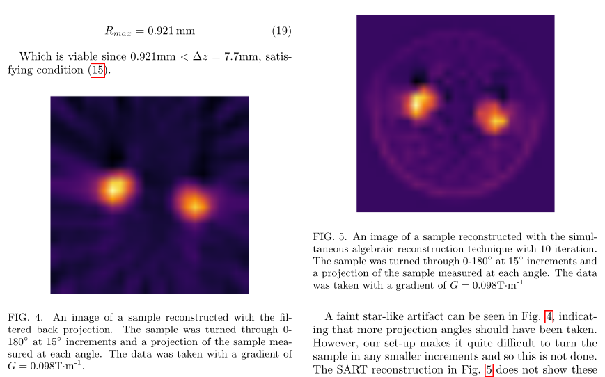 2D cross-sectional NMR imaging with a simple MRI set-up